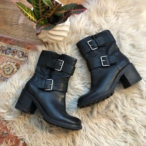 Sam Edelman Troy Black Leather Boots